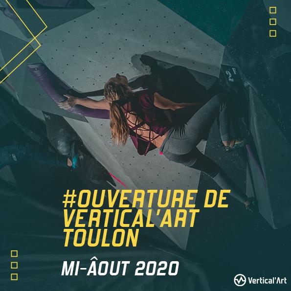 ouverture prochaine de Vertical'Art Toulon dans le var salle d'escalade restaurant et bar