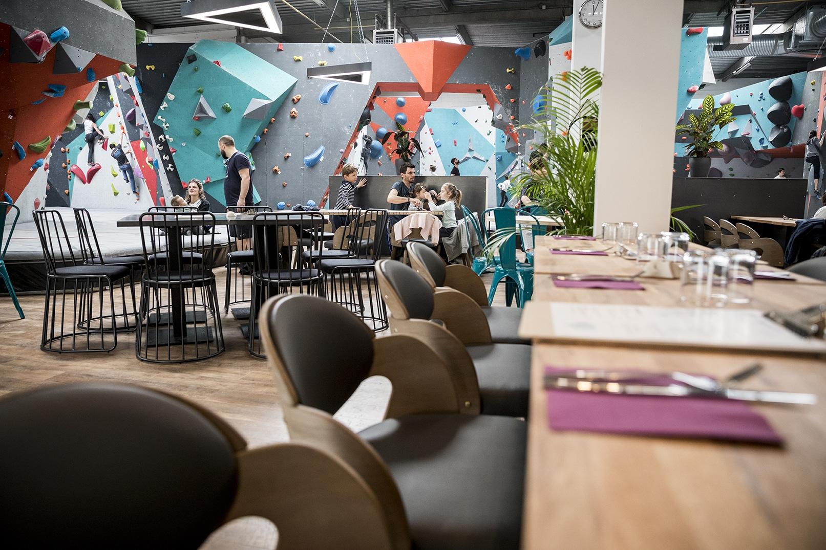restaurant et bar made in Vertical'Art Toulon salle d'escalade manger bouger