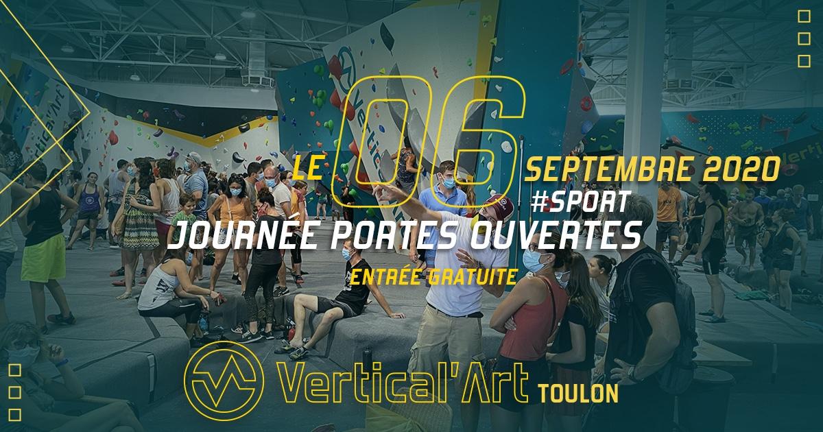 journée portes ouverte chez Vertical'Art à toulon dans le Var - salle d'escalade restaurant et bar entrée gratuite