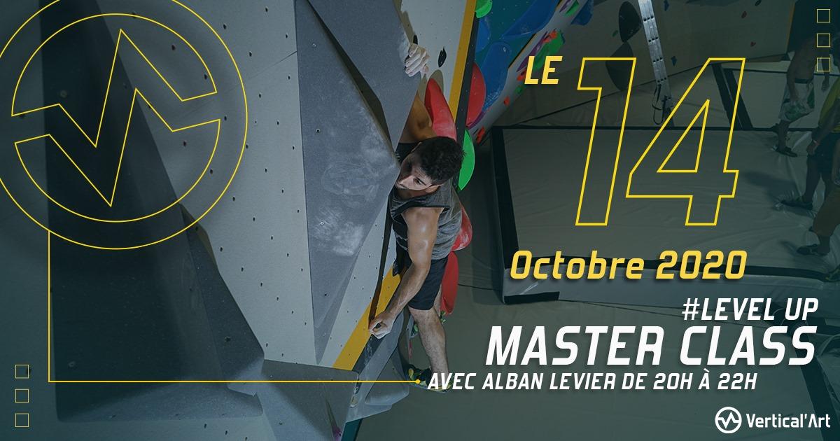 première master class avec Alban Levier à Vertical'Art Toulon, pour passer sa grimpe à la couleur supérieure