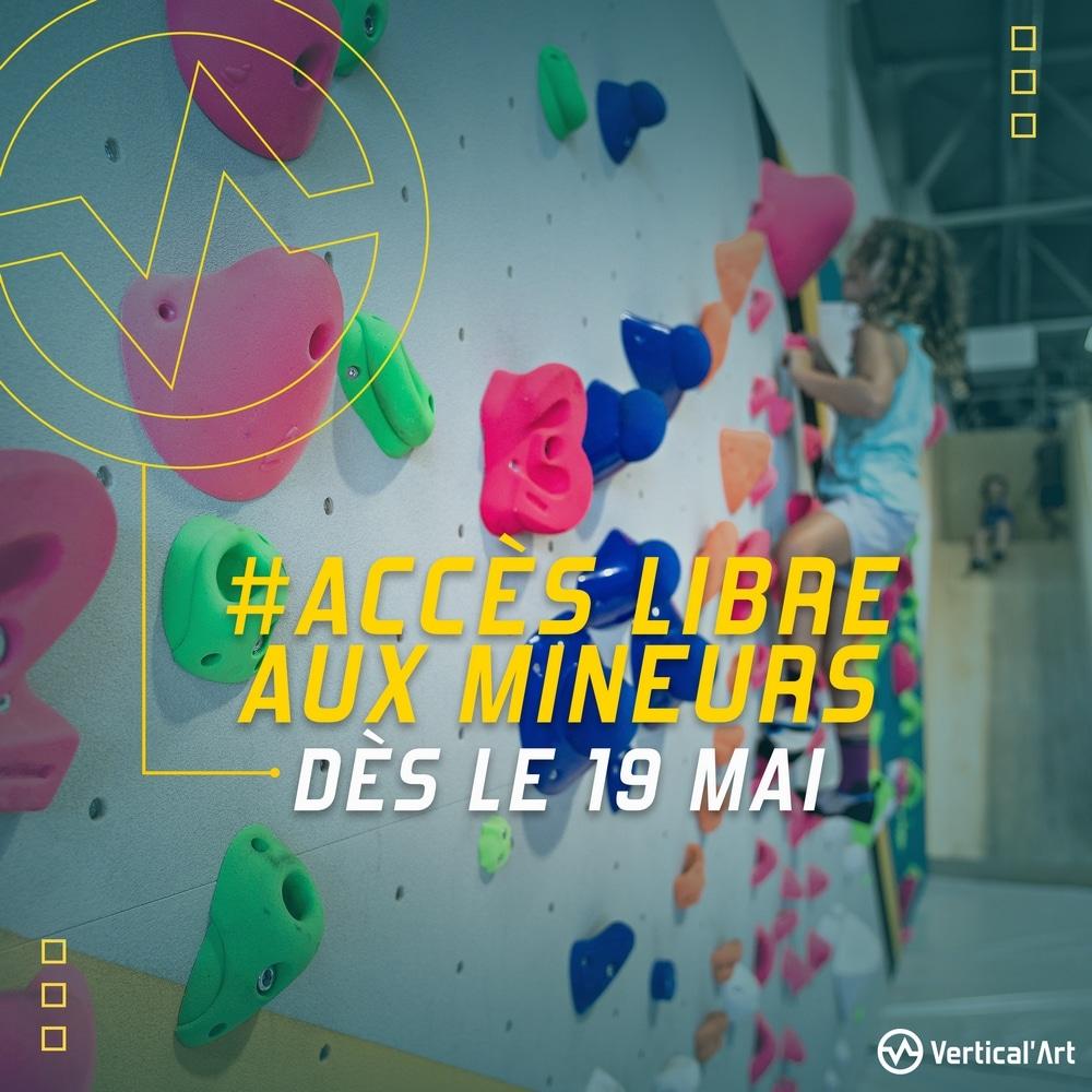 Accès libre aux mineurs dès le 19 mai à Vertical'Art Toulon, nouveaux horaires d'ouverture et réouverture de la terrasse
