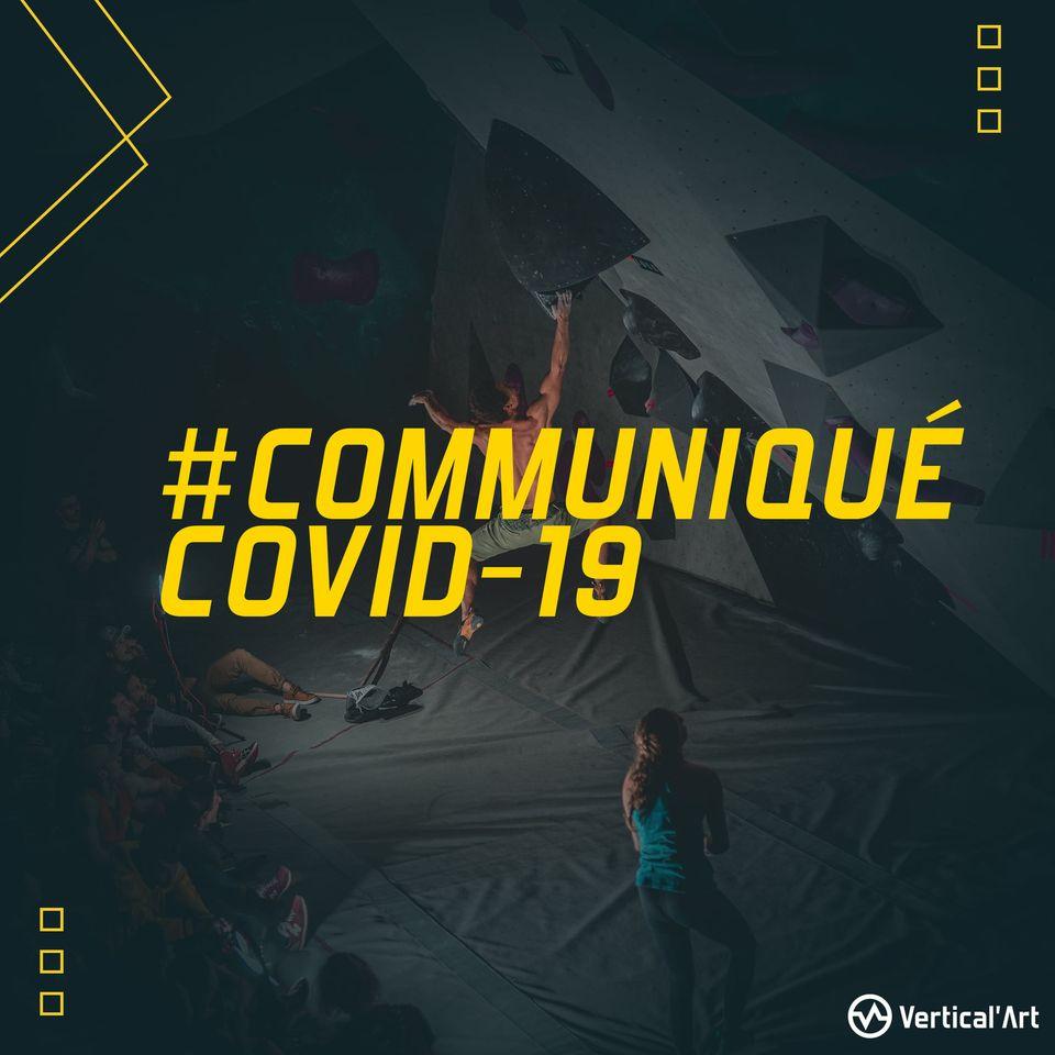 Communiqué Covid-19 - Pass sanitaire : Mise en place d'une jauge de 50 personnes dans votre salle d'escalade Vertical'Art Toulon