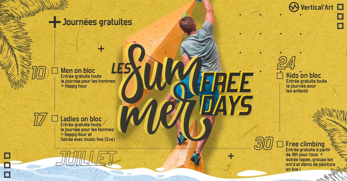 les summer free day chez vertical'art- Toulon - salle d'escalade restaurant et bar journée gratuite